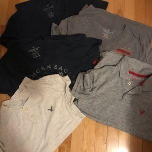 Lots of 5 size XS American Eagle shirts